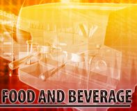 Food & Beverage Abstract concept digital illustration Stock Images