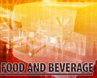 Food & Beverage Abstract concept digital illustration Stock Images