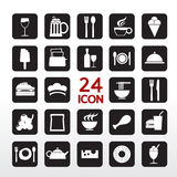 Food And Beverage Icon. Food And Beverage Icon Set EPS10 stock illustration