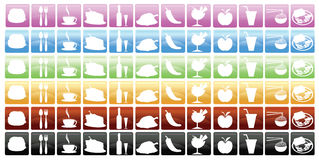 Food and Beverage Icons Royalty Free Stock Photo