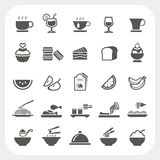 Food and Beverage icons set Stock Photos