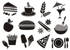 Food and beverage icons Stock Photo
