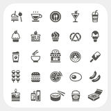Food and Beverage icons set Royalty Free Stock Images