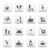Food a& Beverage icons Stock Photo
