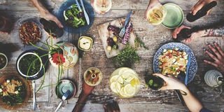 Food Beverage Party Meal Drink Concept Royalty Free Stock Image