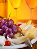 Food and beverage still life Royalty Free Stock Photo