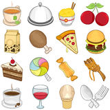 Food & Beverages Icons - Illustration Royalty Free Stock Image