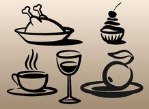 Food and beverages. Stock Image