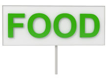 Food on Billboard Royalty Free Stock Image