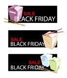 Food on Black Friday Sale Banner Royalty Free Stock Images