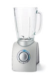 Food Blender. Made of brushed aluminum in seamless white background with clipping path royalty free stock photography