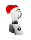 Food Blender with christmas hat Royalty Free Stock Images