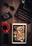 Food blog concept Stock Image
