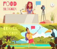Food Blogger Banners Collection royalty free illustration
