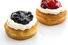 food blueberry and cherry fruit donut Royalty Free Stock Image