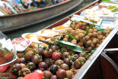 The food in the boat at the floating market in Bangkok Royalty Free Stock Image