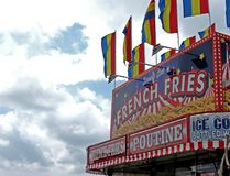 Food Booth. A French fry booth at the fair Royalty Free Stock Photos
