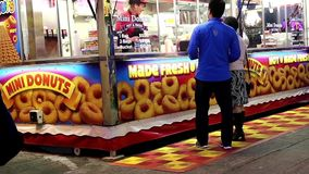 Food booth stock footage