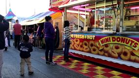 Food booth at the West Coast Amusements Carnival stock footage