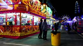 Food booth at the West Coast Amusements Carnival stock video footage