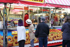 Food booth at the West Coast Amusements Carnival Royalty Free Stock Photo
