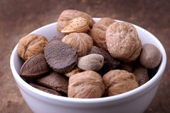 Food - Bowl of Nuts royalty free stock photos