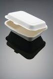Food Box. Polystyrene Food Box with Reflection Stock Image