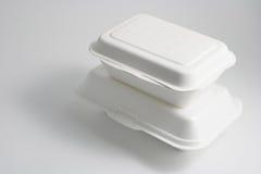 Food Boxes. On Seamless Background Stock Photos
