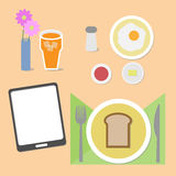 Food and brain breakfast set Stock Images