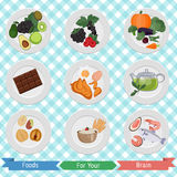 Food for brain and health Stock Photo