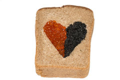Food Bread with caviar Stock Photography