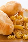 Carbohydrate. Food and bread high in carbohydrate royalty free stock image