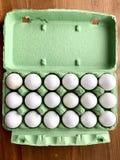 Organic free range eggs. Food breakfast eggs carton box egg organic free range green natural gmo Royalty Free Stock Images
