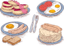 Food for a breakfast royalty free illustration