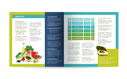 Food brochure design. Royalty Free Stock Image