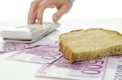 Food budget Stock Photography