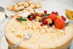 Food during a buffet catering party Royalty Free Stock Image