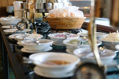 Food buffet catering in restaurant hotel. eating dining in banqu. Et event royalty free stock photo