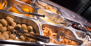 Food in the buffet Chinese restaurant Royalty Free Stock Image