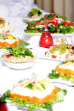 Food buffet. Different kind of food is served on a buffet Royalty Free Stock Images
