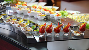 Food Buffet in Luxury Restaurant Royalty Free Stock Photography