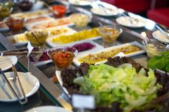 food buffet in restaurant royalty free stock photo