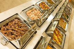 Food buffet in restaurant Royalty Free Stock Photography