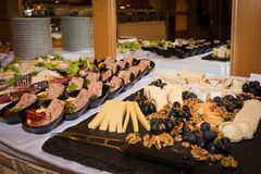 Food buffet in a restaurant during a festive event Stock Photography