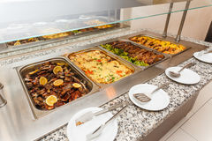 Food buffet self service lunch or dinner Royalty Free Stock Photography