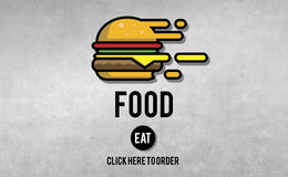 Food Burger Dining Eating Nourishment Concept Stock Images
