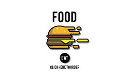 Food Burger Dining Eating Nourishment Concept. Food Burger Dining Eating Nourishment Stock Photos