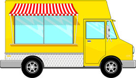 Food bus vector Royalty Free Stock Photos