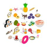 Food business icons set, cartoon style. Food business icons set. Cartoon set of 25 food business vector icons for web isolated on white background Stock Image