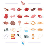 Food, business, leisure and other web icon in cartoon style.  Stock Photography